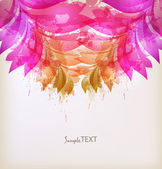 Abstract artistic Background with floral element and colorful blots. — Stock Vector