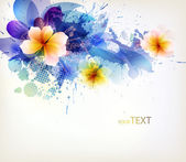 Modern Design template with floral design elements . — 图库矢量图片