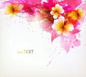 Modern Design template with floral design elements . — Vecteur