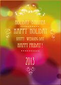 Bannière de vacances avec des éléments colorés — Vecteur