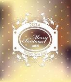 Christmas label for Xmas and New Year holidays. — Stockvektor