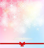 Elegant Vector Christmas background with white snowflakes. — Stock Vector