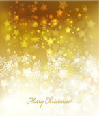 Elegant Vector Christmas background with stars and white snowflakes. — Stock vektor
