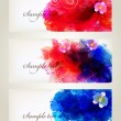 Watercolor vector Set of floral cards — Stock Vector #46212285