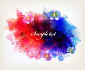 Watercolor vector background with colorful flower — Vetorial Stock