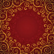 Royalty-Free Stock Vector Image: Decoration on a red background