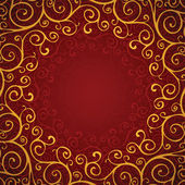 Decoration on a red background — Stock Vector