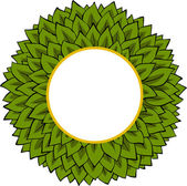Frame of leaves — Stockvector