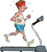Treadmill — Stock Vector