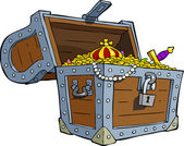 Treasure chest — Vector de stock