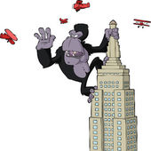 King Kong — Vector de stock