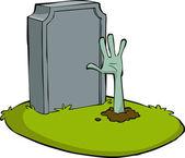 Cartoon grave — Stock Vector