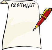 Contract — Stock Vector