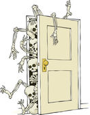 Skeletons in the closet — Stock Vector
