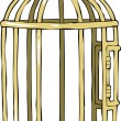 Bird cage - Stockvectorbeeld