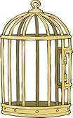 Bird cage — Vector de stock