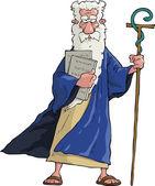 Cartoon Moses — Stock Vector