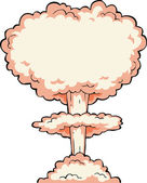 Nuclear explosion — Vettoriale Stock