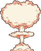 Esplosione nucleare — Vettoriale Stock