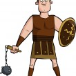 Roman gladiator — Stock Vector