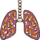 Human lung ashtray — Stock Vector