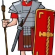 Roman legionary — Stock Vector #28960821
