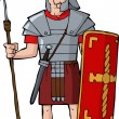 Roman legionary — Stock Vector #28960823