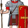 Roman legionary — Stock Vector #28960827