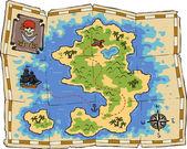 Treasure map — Stock Vector