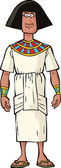 Ancient Egyptian nobleman — Stock Vector