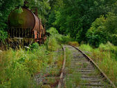 Abandoned train — Foto de Stock