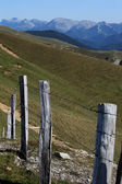 Mountainfence — Stockfoto