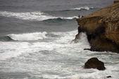 Rybaření na útesu — Stock fotografie
