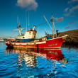 Old style fishing boat — Stock Photo