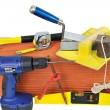 Stock Photo: Tools masonry two