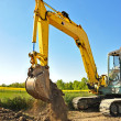 Excavator two — Stock Photo