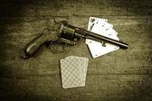Poker gun two — Stock Photo
