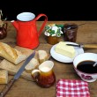 French breakfast two — Stock Photo