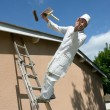 Working painter — Stock Photo