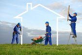 Build house two — Stock Photo