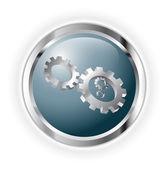 Cogwheels work — Stock Vector