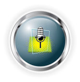 Mic button — Stock Vector