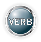 Verb button — Stock Photo