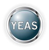 Yeas knappen — Stockfoto
