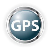 Gps button — Stock Photo