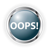 Oops button — Stock Photo