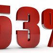 Stock Photo: Percent,53