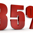 Stock Photo: Percent,85