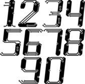 Stylish pcb electric wires numbers in italics — Stock Vector