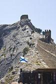 Mountain wall  strengthening — Stock Photo